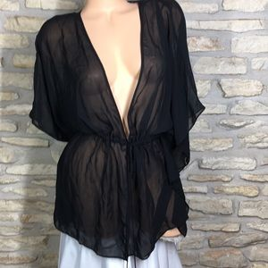 M L Victoria's Secret Black Swimsuit Coverup